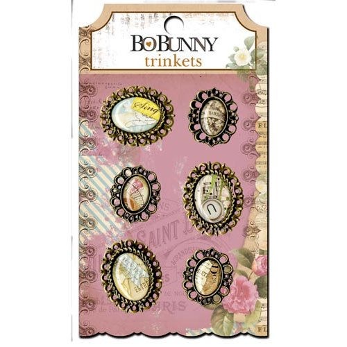Bo Bunny - C'est la Vie Collection - Metal Embellishments - Trinkets