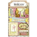 Bo Bunny - C'est la Vie Collection - Layered Chipboard Stickers with Glitter and Jewel Accents