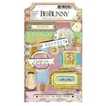 Bo Bunny - C'est la Vie Collection - 3 Dimensional Stickers with Glitter and Jewel Accents
