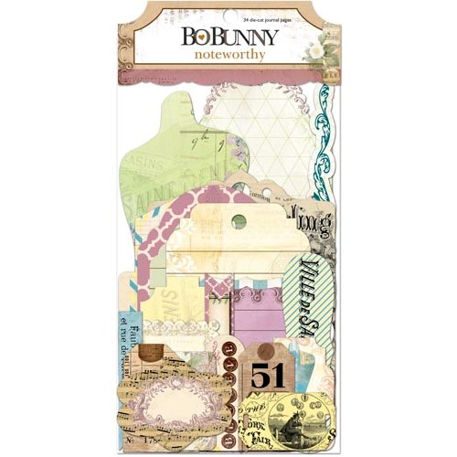 Bo Bunny Press - C'est la Vie Collection - Noteworthy Journaling Cards