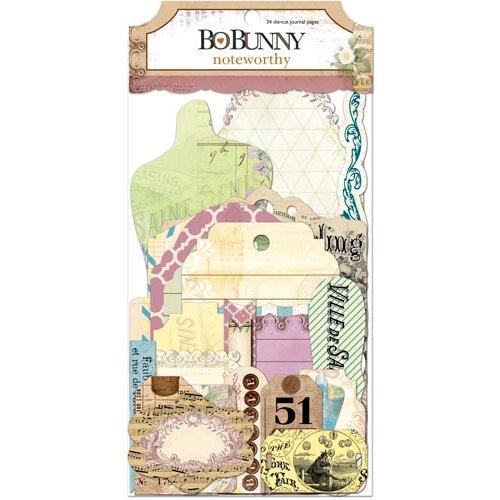 Bo Bunny Press - C'est la Vie Collection - Noteworthy Journaling Cards