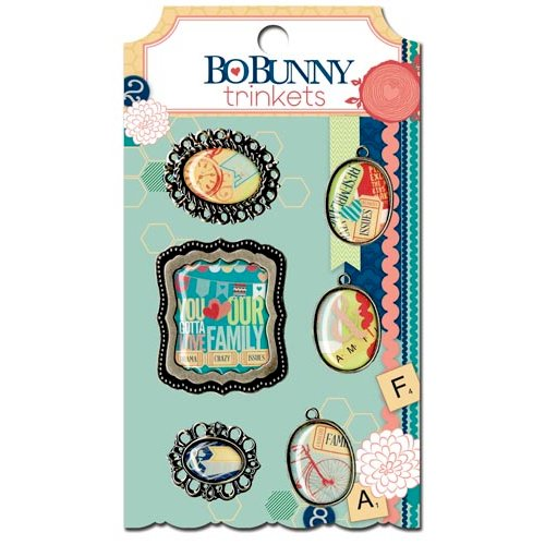 Bo Bunny - Family Is Collection - Metal Embellishments - Trinkets