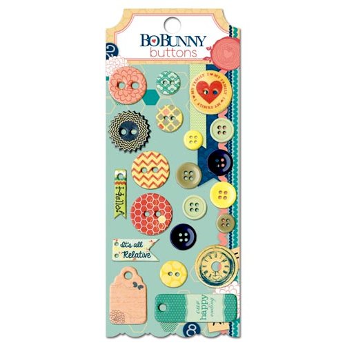 Bo Bunny - Family Is Collection - Buttons