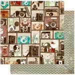 Bo Bunny - Mama-razzi 2 Collection - 12 x 12 Double Sided Paper - Balance