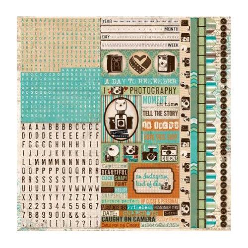 BoBunny - Mama-razzi 2 Collection - Cardstock Stickers - Combo