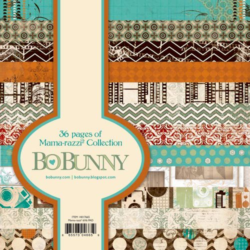 Bo Bunny Press - Mama-razzi 2 Collection - 6 x 6 Paper Pad