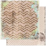 BoBunny - Prairie Chic Collection - 12 x 12 Double Sided Paper - Chevron