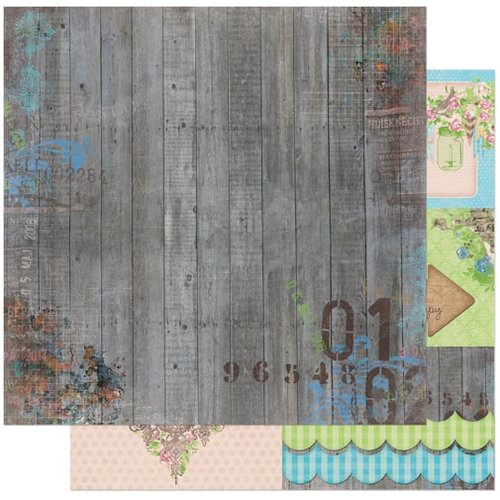 BoBunny - Prairie Chic Collection - 12 x 12 Double Sided Paper - Corral