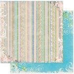 Bo Bunny - Prairie Chic Collection - 12 x 12 Double Sided Paper - Laundry