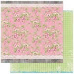 Bo Bunny - Prairie Chic Collection - 12 x 12 Double Sided Paper - Rambling Rose