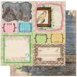BoBunny - Prairie Chic Collection - 12 x 12 Double Sided Paper - Yard Sale