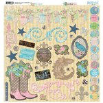 BoBunny - Prairie Chic Collection - 12 x 12 Chipboard Stickers