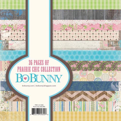 BoBunny - Prairie Chic Collection - 6 x 6 Paper Pad