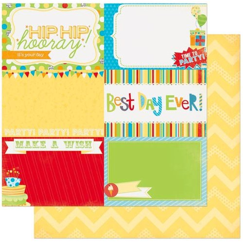 Bo Bunny - Surprise Collection - 12 x 12 Double Sided Paper - Hooray