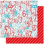 Bo Bunny - Surprise Collection - 12 x 12 Double Sided Paper - Numbers