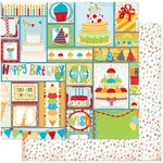 BoBunny - Surprise Collection - 12 x 12 Double Sided Paper - You're Invited
