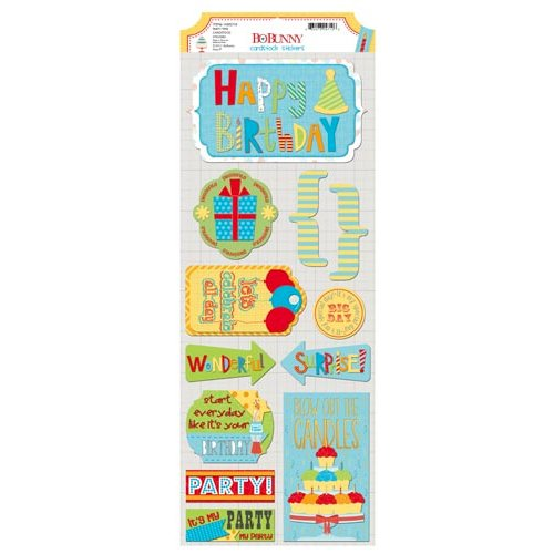 BoBunny - Surprise Collection - Cardstock Stickers - Party Time