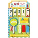 Bo Bunny - Surprise Collection - Layered Chipboard Stickers with Glitter and Jewel Accents