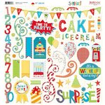 Bo Bunny - Surprise Collection - 12 x 12 Chipboard Stickers