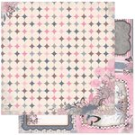 Bo Bunny - Isabella Collection - 12 x 12 Double Sided Paper - Felicity