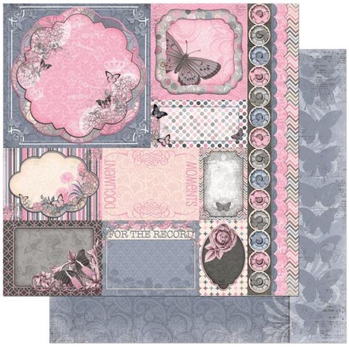 BoBunny - Isabella Collection - 12 x 12 Double Sided Paper - Style