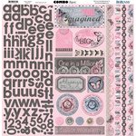 BoBunny - Isabella Collection - 12 x 12 Cardstock Stickers - Combo