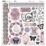 Bo Bunny - Isabella Collection - 12 x 12 Chipboard Stickers