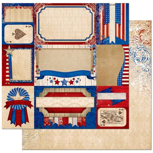 BoBunny - Anthem Collection - 12 x 12 Double Sided Paper - History