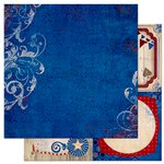 BoBunny - Anthem Collection - 12 x 12 Double Sided Paper - Sovereign