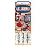 BoBunny - Anthem Collection - Cardstock Stickers - USA