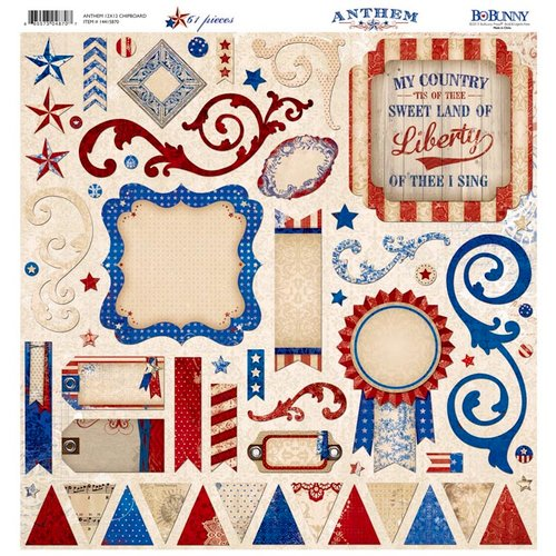 Bo Bunny - Anthem Collection - 12 x 12 Chipboard Stickers