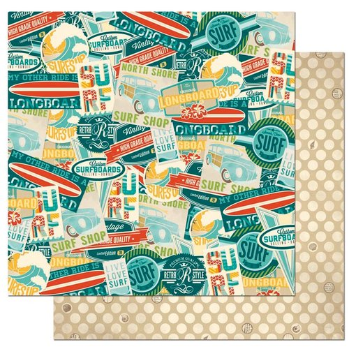 Bo Bunny - Key Lime Collection - 12 x 12 Double Sided Paper - Hang Ten