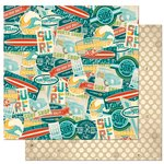 BoBunny - Key Lime Collection - 12 x 12 Double Sided Paper - Hang Ten