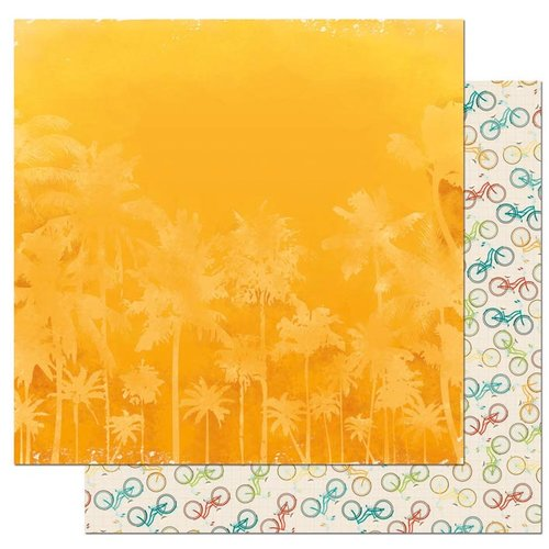 BoBunny - Key Lime Collection - 12 x 12 Double Sided Paper - Heat Wave
