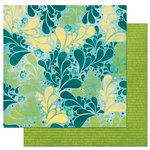 Bo Bunny - Key Lime Collection - 12 x 12 Double Sided Paper - Splash