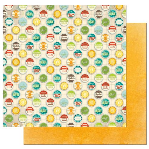 Bo Bunny - Key Lime Collection - 12 x 12 Double Sided Paper - Sun-Dew