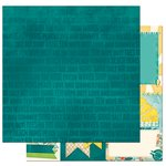 BoBunny - Key Lime Collection - 12 x 12 Double Sided Paper - Wipe Out