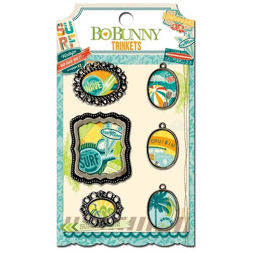 Bo Bunny - Key Lime Collection - Metal Embellishments - Trinkets