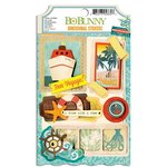 Bo Bunny - Key Lime Collection - 3 Dimensional Stickers with Glitter and Jewel Accents