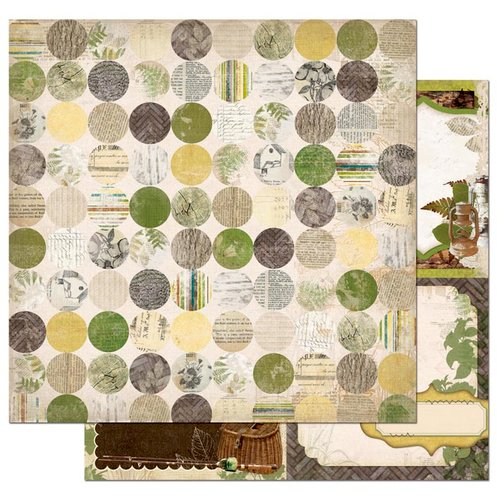 Bo Bunny - Trail Mix Collection - 12 x 12 Double Sided Paper - Hollow