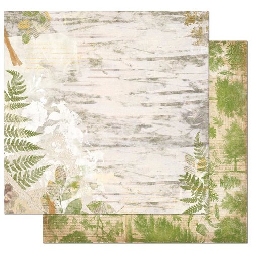 Bo Bunny - Trail Mix Collection - 12 x 12 Double Sided Paper - Nature
