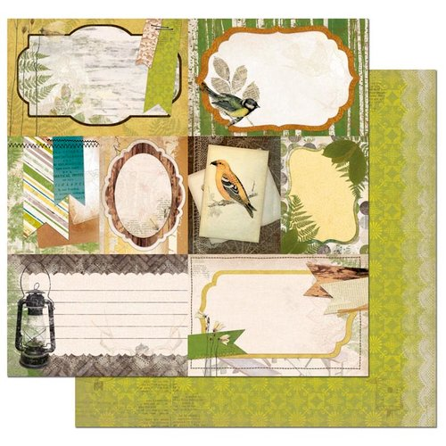 BoBunny - Trail Mix Collection - 12 x 12 Double Sided Paper - Woodland Picnic