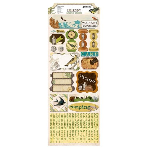 BoBunny - Trail Mix Collection - Cardstock Stickers - Camping