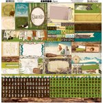 Bo Bunny - Trail Mix Collection - 12 x 12 Cardstock Stickers - Combo