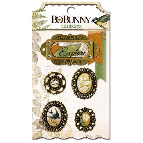 BoBunny - Trail Mix Collection - Metal Embellishments - Trinkets