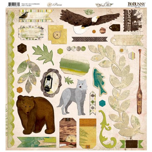 Bo Bunny - Trail Mix Collection - 12 x 12 Chipboard Stickers