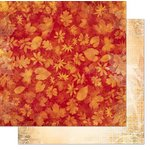 Bo Bunny - Autumn Song Collection - 12 x 12 Double Sided Paper - Leaves