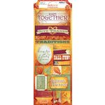 Bo Bunny - Autumn Song Collection - Cardstock Stickers