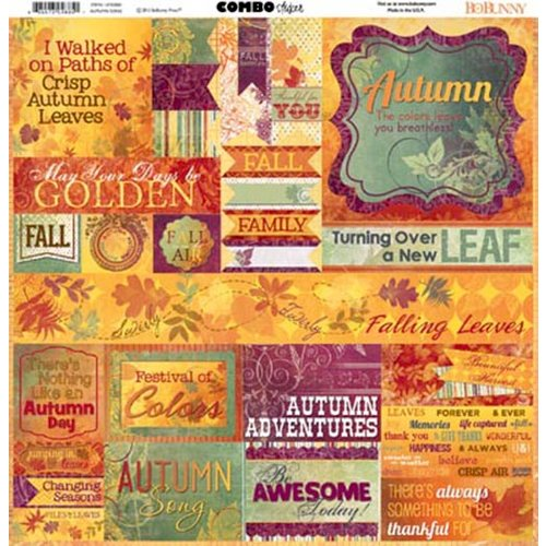 BoBunny - Autumn Song Collection - 12 x 12 Cardstock Stickers - Combo