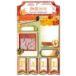 Bo Bunny - Autumn Song Collection - Layered Chipboard Stickers with Glitter and Jewel Accents
